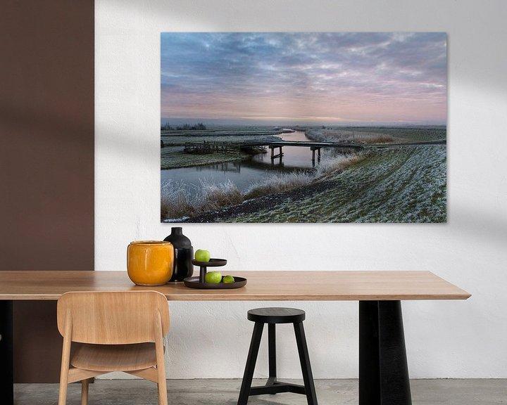 Sfeerimpressie: Winterlandschap in de Schermer van Ellen van Schravendijk