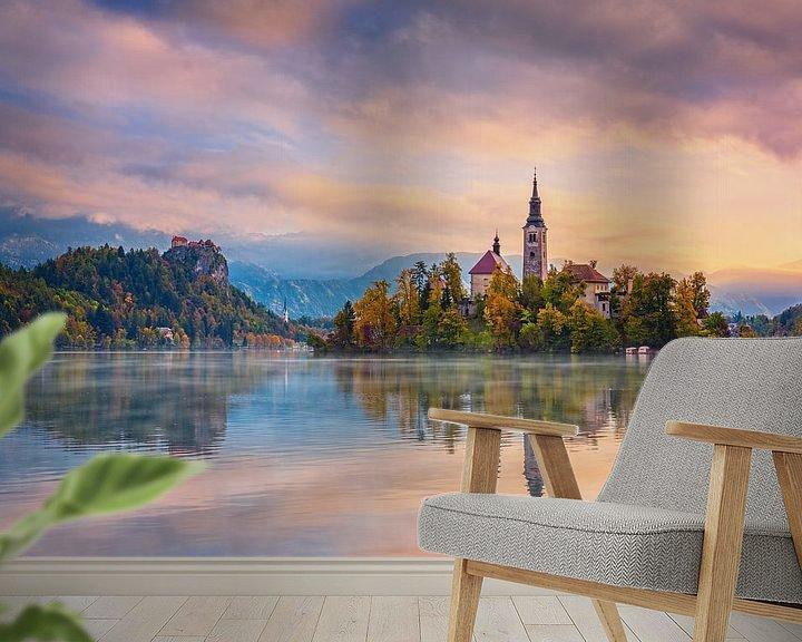 Sfeerimpressie behang: Sloveense ochtend van Pieter Struiksma