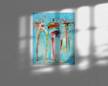 3 happy people von Atelier Paint-Ing