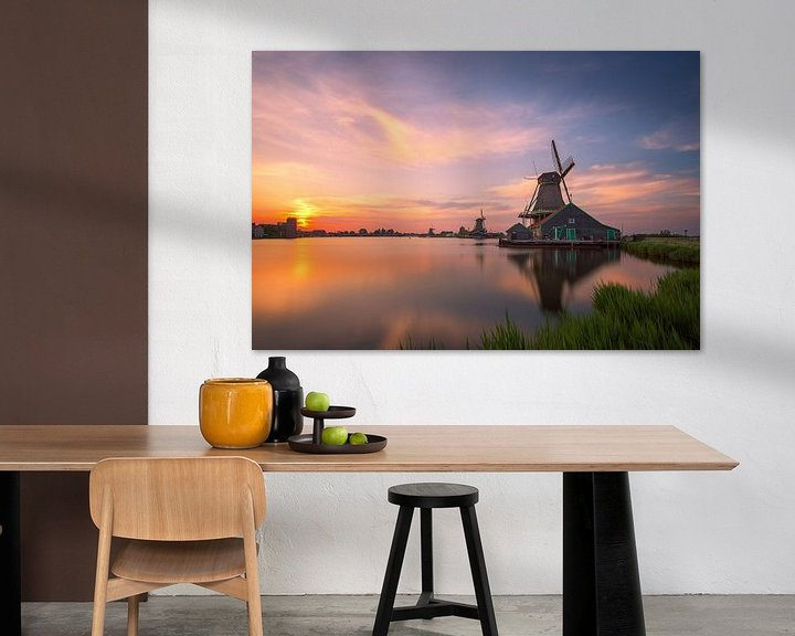 Sfeerimpressie: Nederlandse Zijdeachtige Zonsondergang van Pieter Struiksma