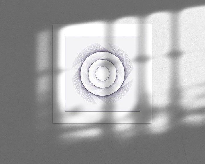 Sfeerimpressie: Squared Circle  (PWs) -  serie Squared Circle van intersensa - Jacqueline Lemmens