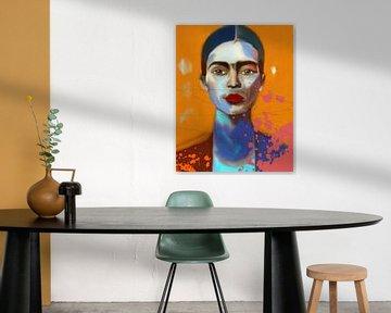 Frida  Expressive Pop Art von Felix von Altersheim