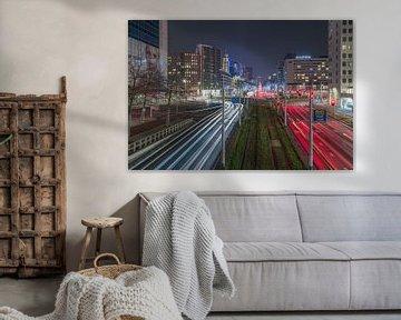 Het Hofplein in Rotterdam in beweging van MS Fotografie | Marc van der Stelt