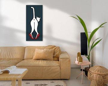 kat op hakken, cat on pumps, high heels van karen vleugel