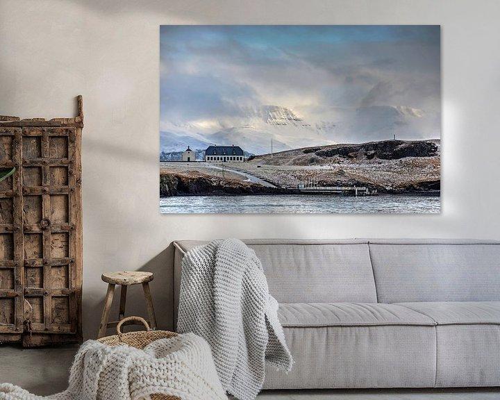 Sfeerimpressie: Winter op Viðey  van Frans Blok