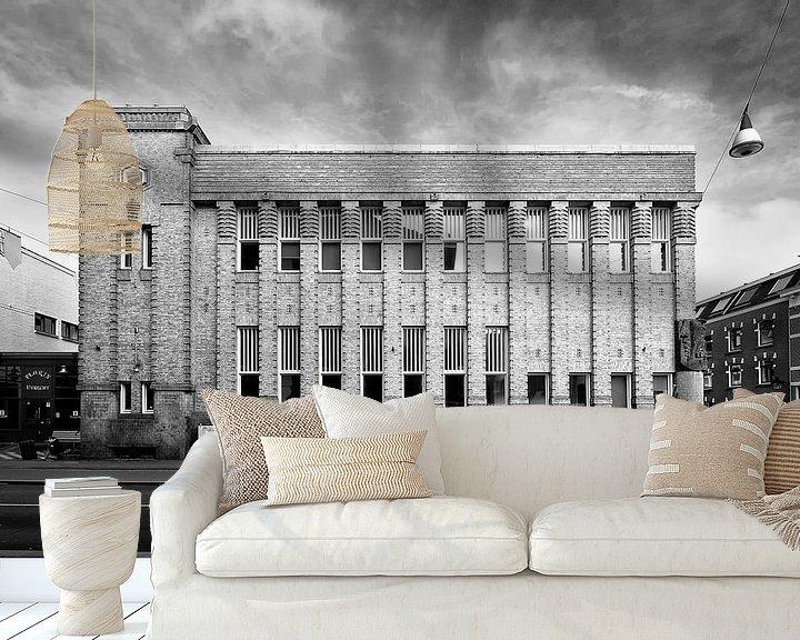 Sfeerimpressie behang: Architectuur in Utrecht: De voormalige Amsterdamse Incassobank aan de Nobelstraat in Utrecht van De Utrechtse Grachten