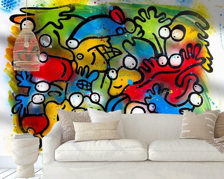 Sfeerimpressie behang: vlek, spot, spray van karen vleugel