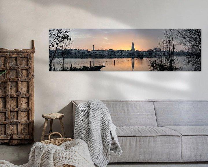 Sfeerimpressie: Panorama van de ochtendzon in Zutphen van Marcel Pietersen