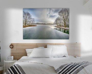 Een mooie winterdag in Almere van Foto Amsterdam / Peter Bartelings