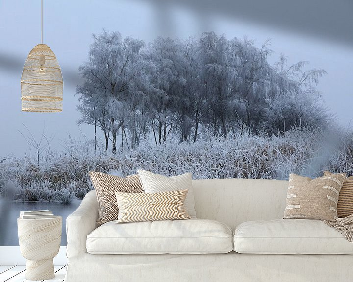 Sfeerimpressie behang: Friesland - Winter van Fotografie Sybrandy