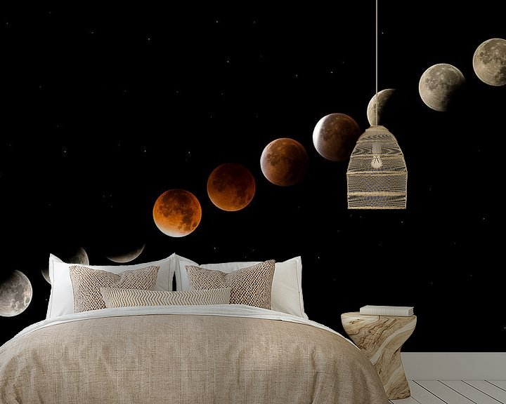 Beispiel fototapete: Mondfinsternis von Moor van Bree foto's