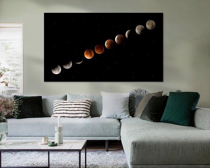 Beispiel: Mondfinsternis von Moor van Bree foto's
