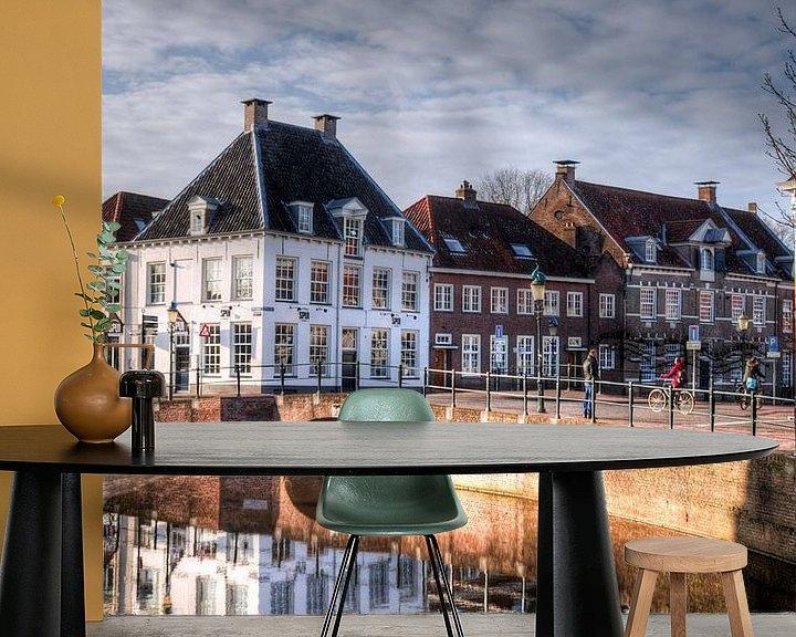 Beispiel fototapete: Westsingel en Spui historisch Amersfoort von Watze D. de Haan