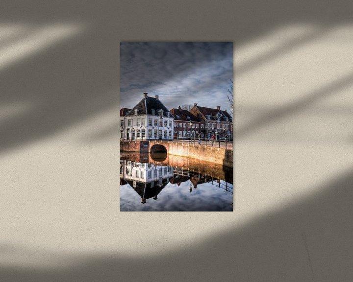 Beispiel: Westsingel en Spui historisch Amersfoort von Watze D. de Haan