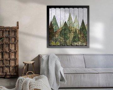 Wald abstrakt in 3D van Christine Nöhmeier