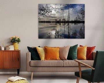 Reflectie op water, Loosdrecht / Reflection on Water, Dutch Landscape van Danielle Bosschaart