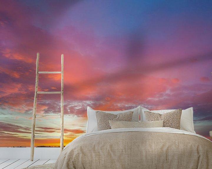 Sfeerimpressie behang: Hoornse Plas bij zonsopkomst van Ron Buist