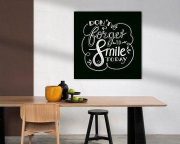 Don't forget to smile - zwart van Annemieke Nijenhuis
