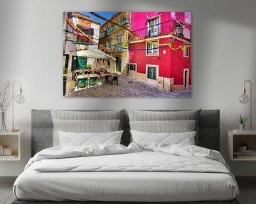 Kleurrijk Lissabon! van Dennis van de Water