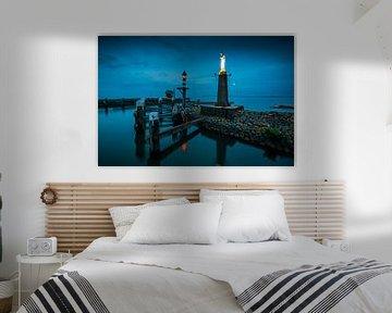 Volendam - stimmungsvolle Abendaufnahme des Hafens von Keesnan Dogger Fotografie