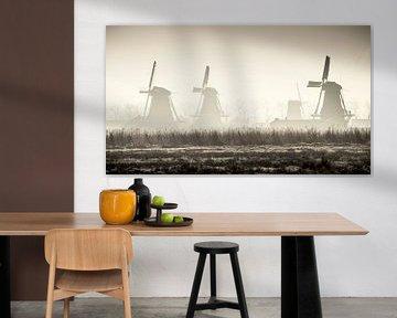 Mühlen der Zaanse Schans - atmosphärische Aufzeichnung von Keesnan Dogger Fotografie