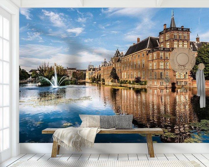 Sfeerimpressie behang: Binnenhof Den Haag van Brian Morgan