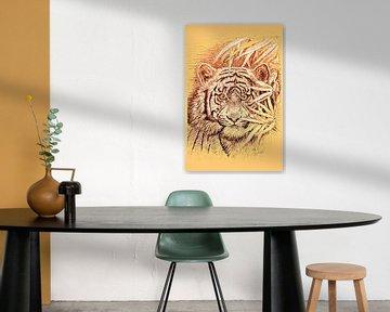King Of The Jungle in light orange von Gitta Gläser