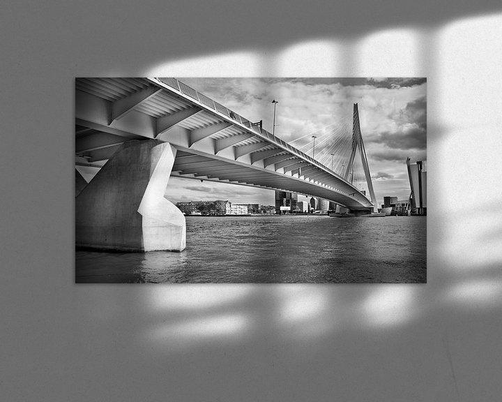Sfeerimpressie: Erasmus bridge, Rotterdam van Jerome Coppo