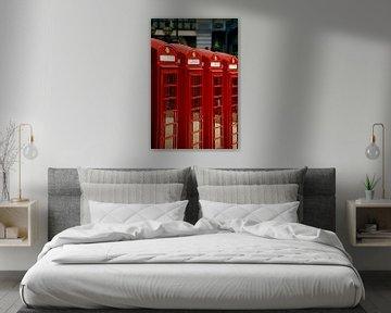Serie Londense telefooncellen van Marcel Römer