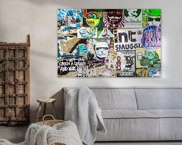 stickers, collage, urban, kleur sur Ada van der Lugt