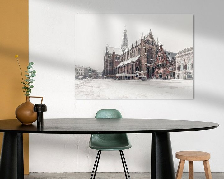 Impression: Haarlem: de Bavo en de sneeuw. sur Olaf Kramer