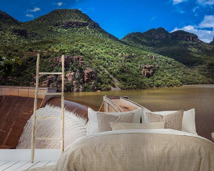 Sfeerimpressie behang: the swadini dam near the blyde river van Compuinfoto .