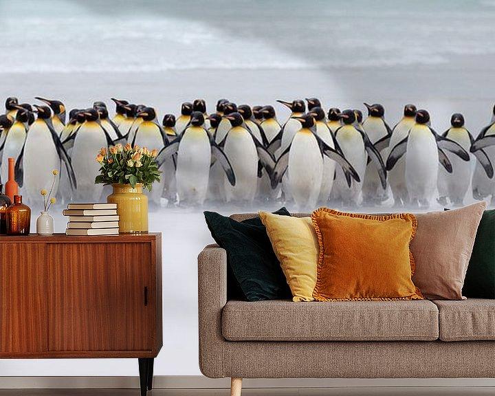 Sfeerimpressie behang: Just a few penguins van Claudia van Zanten