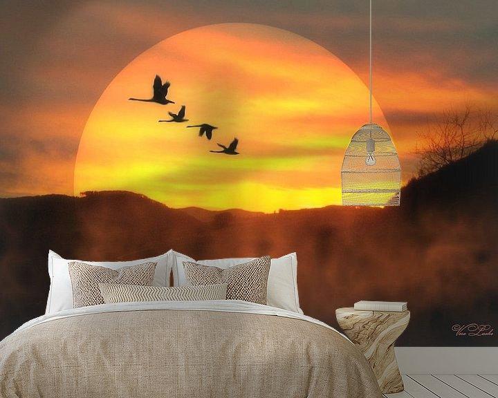 Sfeerimpressie behang: Nachtvlucht van Vera Laake