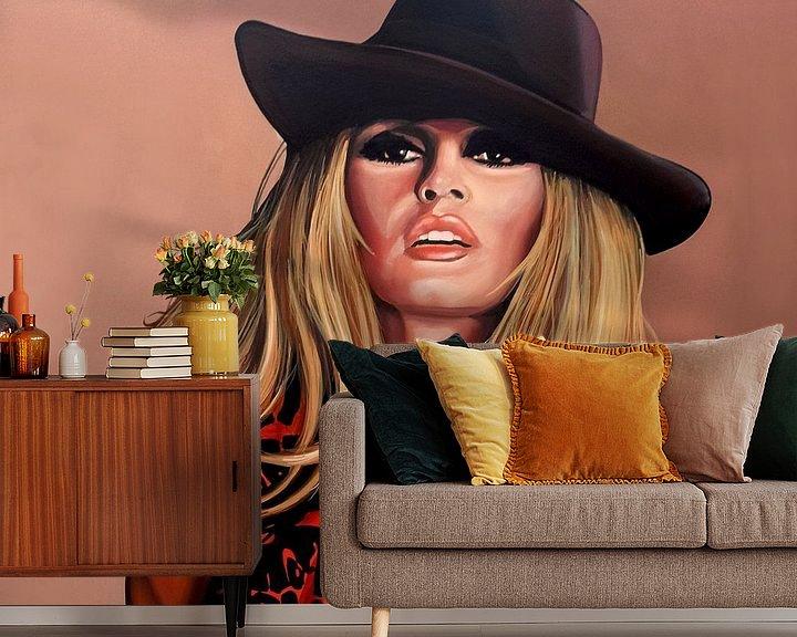 Beispiel fototapete: Brigitte Bardot Schilderij von Paul Meijering