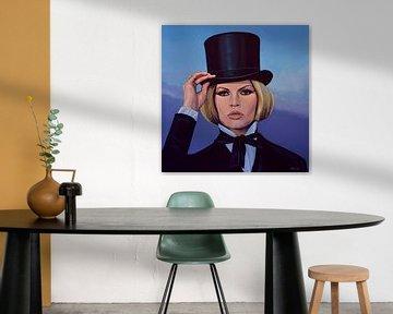 Brigitte Bardot  Blue Schilderij von Paul Meijering