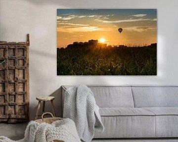 Sunset in Bedum van Ronnie Schuringa