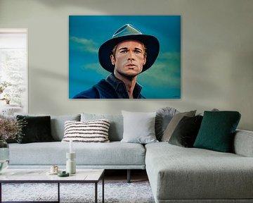 Brad Pitt Schilderij von Paul Meijering