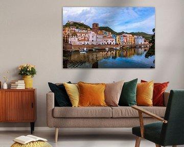 Gekleurde huisjes van Max De Rooij