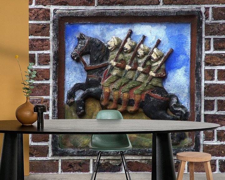Sfeerimpressie behang: De Vier Heemskinderen van Mike Bing