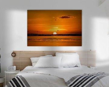 Sonnenuntergang am Meer von Gonnie van de Schans