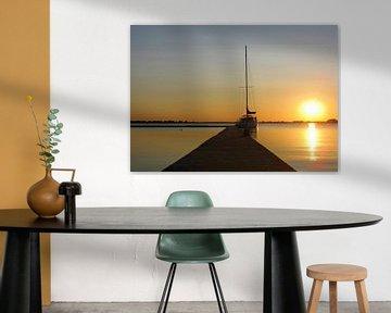 Sunset van Pieter van Dijken