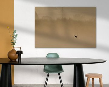 Eenzame vogel van Wim Heirbaut