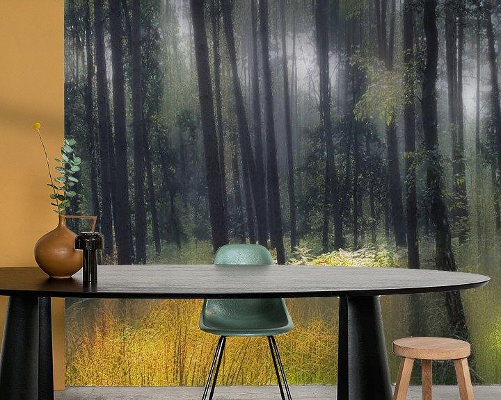 Sfeerimpressie behang: boslandschap van Henk Speksnijder