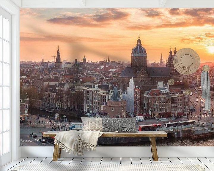 Sfeerimpressie behang: Amsterdam! van Photo Wall Decoration