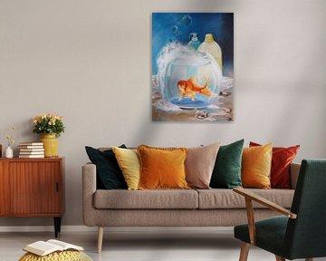 Bubble bath with lemon scent van Dorothy Maurus