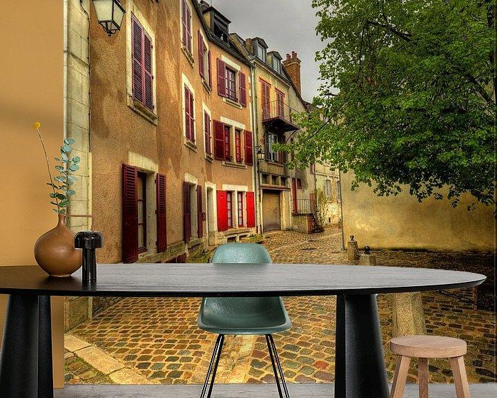 Sfeerimpressie behang: Rue de Mont Brenn, Auxerre van Hans Kool