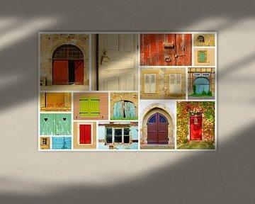 The Doors (Oude Deuren in collage) van Caroline Lichthart