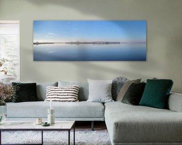 Winters landschap bij het Ketelmeer in de IJsseldelta van Sjoerd van der Wal