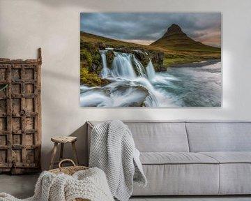 Paysage Cascades Kirkjufell Islande sur Sander Grefte